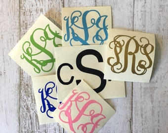 "Monogram Decal 2"" Tracked Shipping"