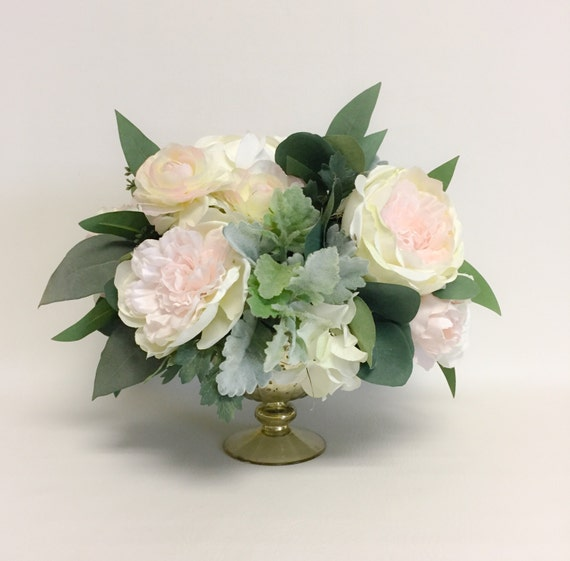 Centerpiece Flower Arrangement / Blush / Artificial / Faux Flower Arrangement