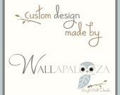 Custom name wall decal for Penelope Rose