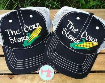 Custom Trucker Hat-Custom Baseball Hat-Monogrammed Trucker Hat-#happywife#happylife-Custom Hats