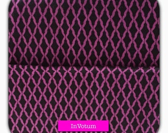 "Cotton fabric Camelot fabrics ""Kabloom"" Purple - black, 50 cm"