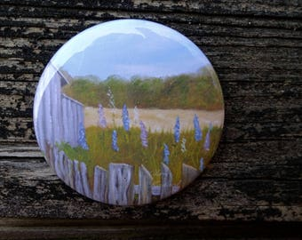 Field, Fence and Flowers: Magnet