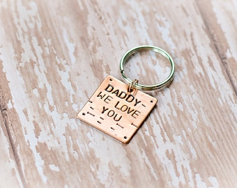 Daddy Keychain - Father's Day Gift - Father daughter key chain, father son and daughter key chain, first prince first hero keychain