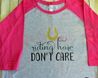 YOUTH Riding Hair Don't Care shirt - horse riding - equestrian attire