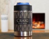 Personalized Groomsman Gifts, Custom Groomsman Gifts, Can Coolers, Set of 5