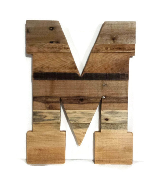 Wooden Letters Large Wood Letters Rustic Wood Letters Large