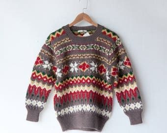 Vintage Sweater | winter jumper | grandpa style | 70s 80s | oversized