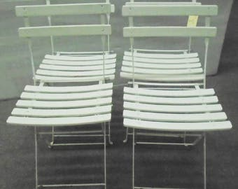SOLD Set of 4 French Folding Bistro Chairs