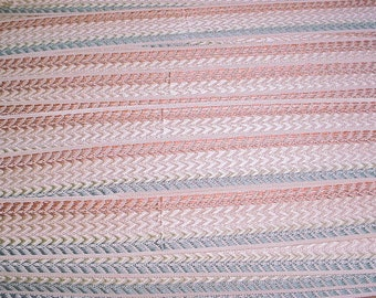 8 yards Scalamandre V3M-01 in Salmon Cornflower Off White - Silk Chevron Braid Gimp Border Drapery Upholstery Fabric - Free Shipping