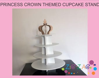 Princess crown themed cupcake stand