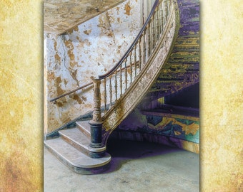 Abandoned Building, Staircase Photography, Peeling Paint, Americana Classic Art, Fine Art Photography, Large Wall Art