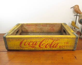 Wooden Coca Cola Crate, 1966 Coke Crate