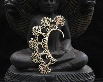 Gold Tree of Life Ear Cuff Tribal Boho Festival Earring Jewelry
