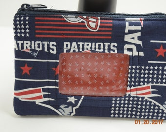 Clutch   ID wristlet   ID Clutch   Cellphone Clutch   Cell Phone Wallet   Credit Card Wallet   Coin Purse  NFL Patriots