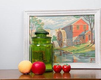 Cannister Jar L. E. Smith  Glass Jar