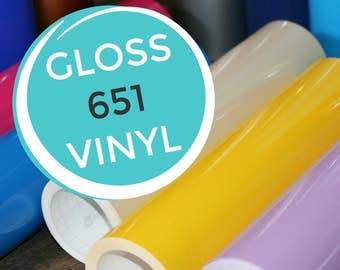 GLOSS 651 Craft Vinyl by Sheet or Yard - Oracal - Compatible with Cricut & Silhouette Cutter - Permanent Vinyl - Outdoor Vinyl