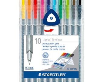 Staedtler Triplus Fineliner Pens Markers 10 pack