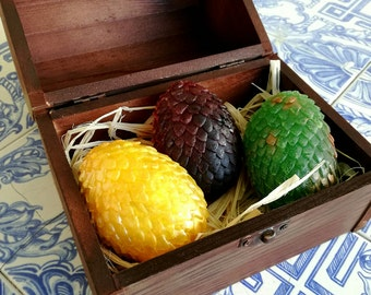 Game of thrones inspired dragon egg chest- lots of colors available!