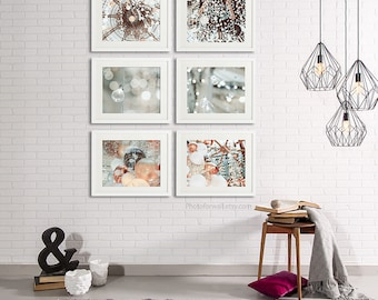 Bathroom Wall Decor Set Of 6 Prints, Galeries Lafayettes Paris Photography,  Bathroom Art White