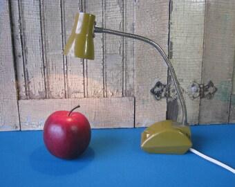 Goose Neck Desk Lamp - Small - Adjustable - Flexible - Retro Office Lamp - Mid Century Vintage 1960's