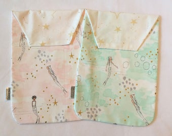 NEW - Ready to Ship Diaper Clutch - On the Go Diaper Bag - Mermaid - Diaper Pouch