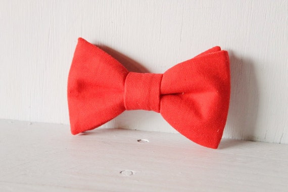 Dog bow tie >> Red Christmas bow with elastic >> Pet gift