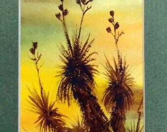 Ann Sproul Original Watercolor Yucca Elata