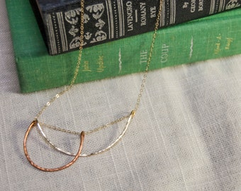 Double Horseshoe Gold Chain Necklace