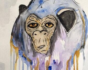 Feeling Used Watercolor ORIGINAL or REPRODUCTION PRINT