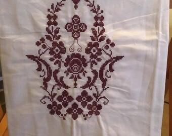 Dainty Cross Stitch Flour Sack Towel