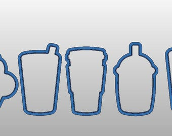 "Drinking Cup Cookie Cutters - 4"" in size"