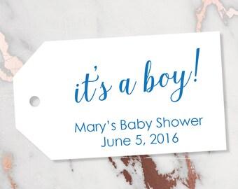 It's a boy Tag - Baby Boy Tags - Boy Tags - Blue Tags - Baby Shower Tags - Baby Shower Favor Tags - Baby Shower - LARGE