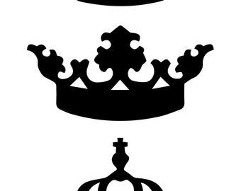 Crown/Tiara Set of Vinyl Decals