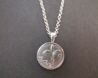 Israel New Sheqel Coin Necklace - Israel Coin Pendant
