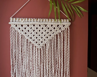 Handmade Macrame Wall Hanging Wall Decor Boho Wall Art Fiber Art Knots String