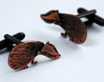 Badger copper finish cufflinks