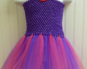 Tutu Dress Purple and Hot Pink  / BASIC