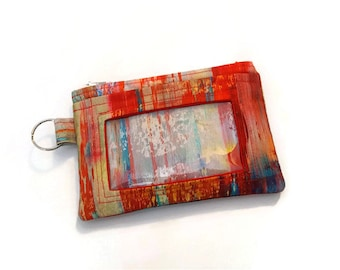 ID Wallet / Keychain ID Wallet / ID Holder with Credit Card Pocket