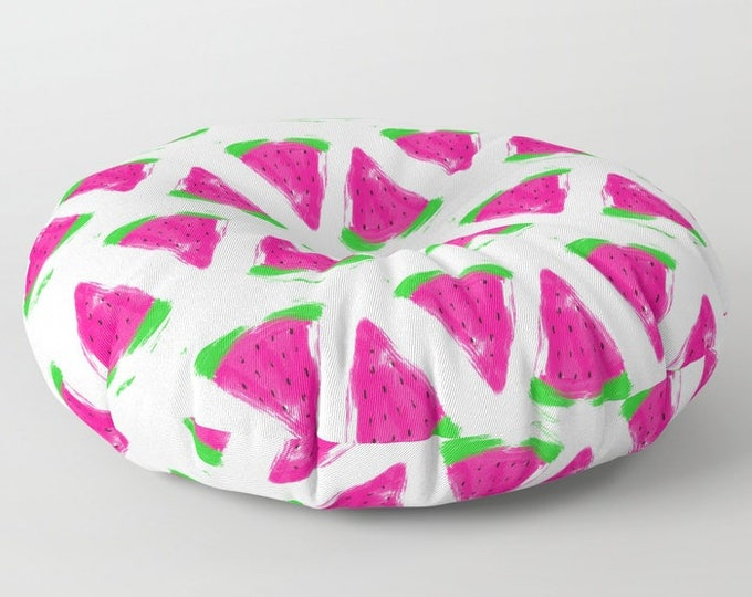 Watermelon Floor Pillows - Round or Square Floor Cushion - Decorative Pillow - Made to Order