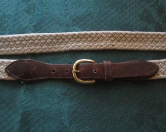 Tan Woven Jute Belt