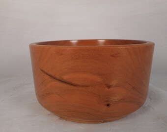 25% OFF SALE - Handmade decorative wooden cherry bowl / home decor