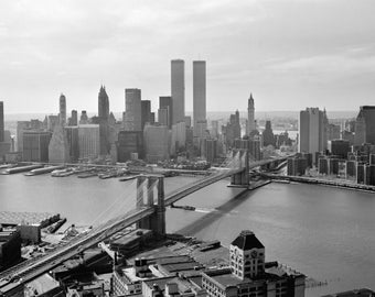 twin towers art etsy