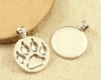 15pcs Bear's paw  Charms Antique Silver Alloy Pendants Jewelry Findings charm