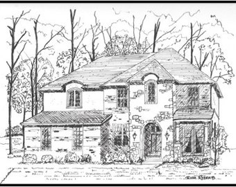 Custom Pen and Ink drawings made from your photos.  Many sizes available,.