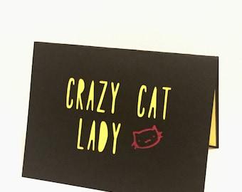 Crazy Cat Lady Blank Card