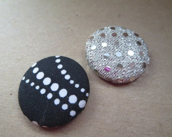 Fabric Pin Back Buttons