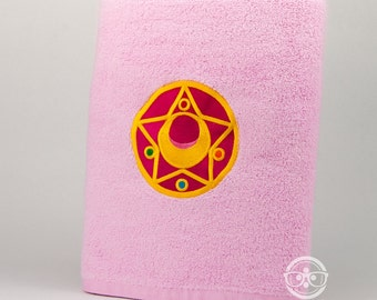 """Sailor Moon """"Star Compact"""" Inspired - Embroidered Bath Towel"""