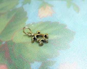 "925 Sterling Silver Honu Turtle Petroglph design 1/2""  Charm"