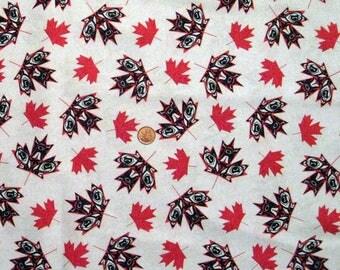 Canada Maple Leaves - Native - Half yard x 1