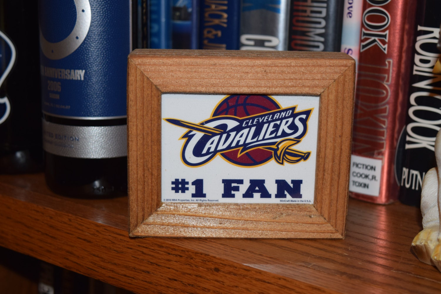 Personalized Man Cave Signs Free Shipping : Free shipping cleveland cavaliers custom cedar framed fan